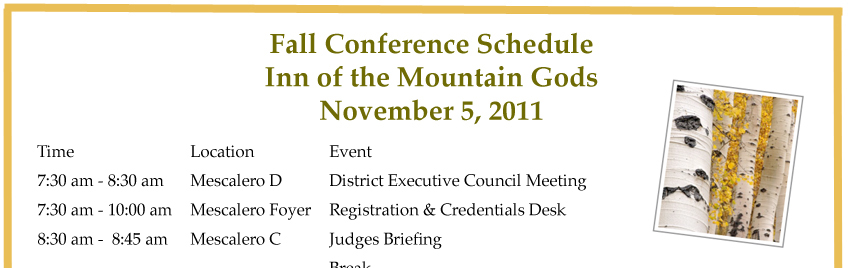Fall Conference Schedule is Here!