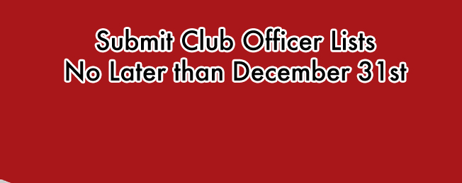 It's Time to Submit Club Officer Lists