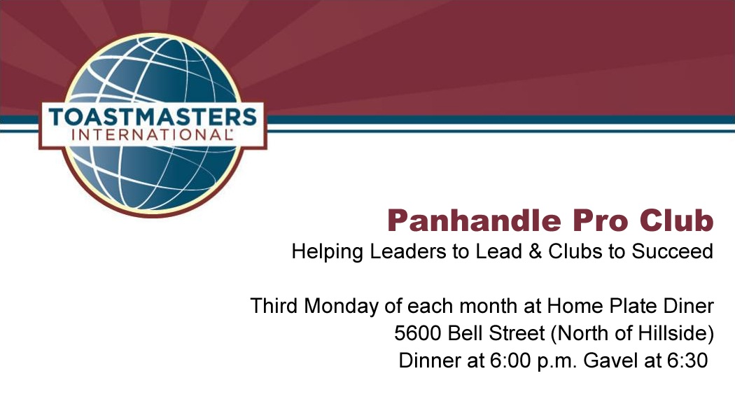 Free Club Business Cards District 23 Toastmasters