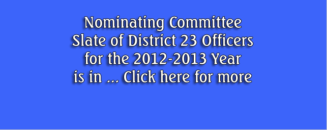Nominating Committee Reports Slate of Officers