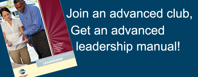 Join an Advanced Club, Get an Advanced Leadership Manual