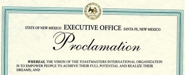 Toastmasters Month in New Mexico