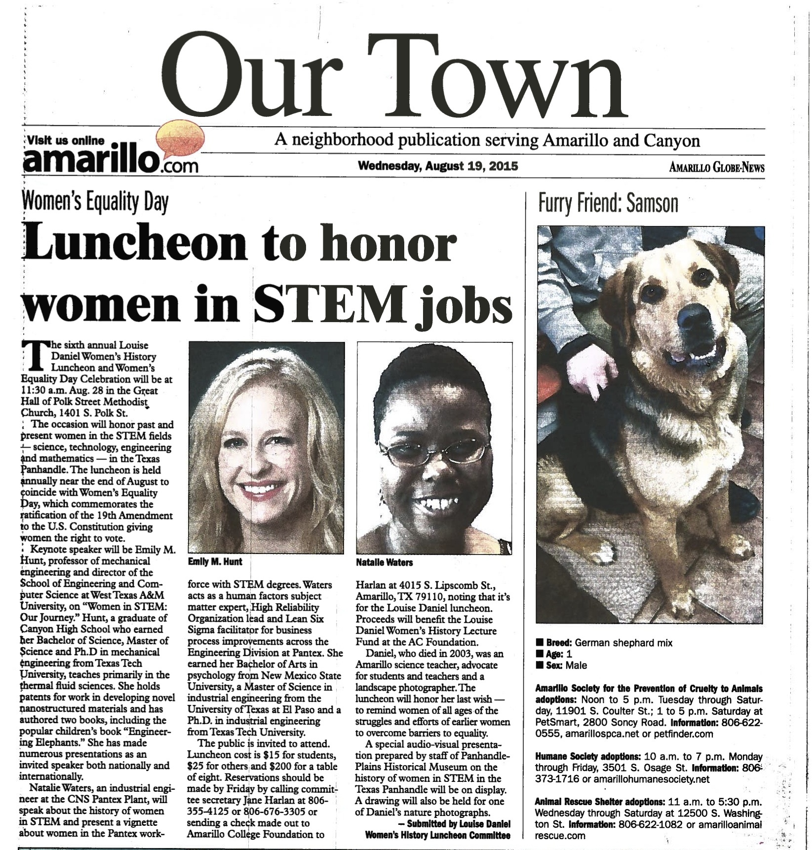 Toastmaster Speaks at STEM Luncheon